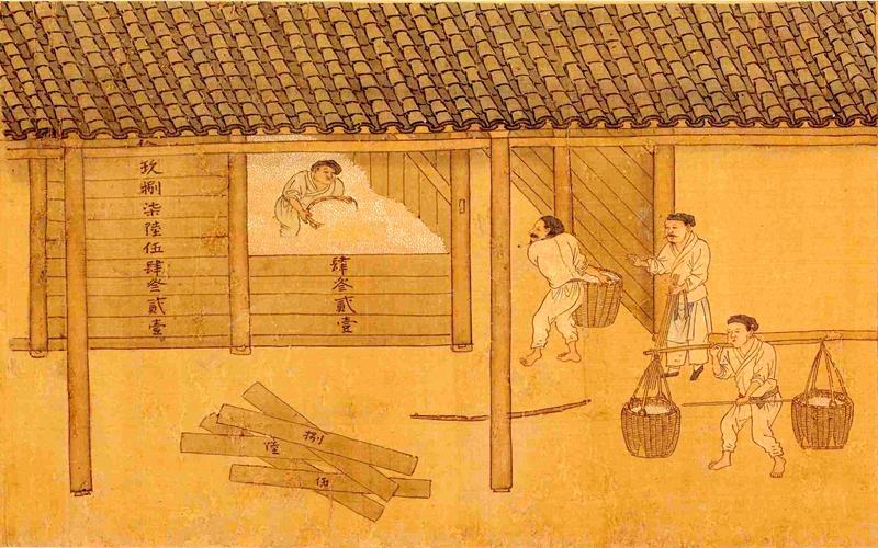 陳廣漢出米時就記錄下來,東邊糧倉絲毫不差(示意圖片:元代《耕稼圖》局部)