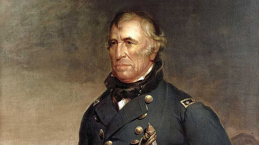 战争英雄:泰勒(Zachary Taylor)(图片:Joseph Henry Bush - The White House Historical Association)局部