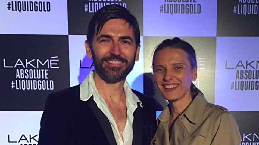 国际模特人才公司总监马克•卢伯瑞克(Mark Luburic)(左)(本人提供)