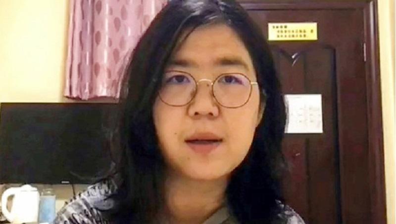 张展在武汉采访曝光中共肺炎疫情