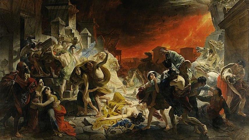 庞贝末日(油画)(图片:[俄] Karl Bryullov 1830—1833间画作局部,俄罗斯博物馆藏)
