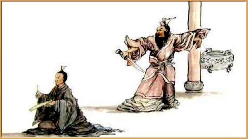 崔杼手起刀落殺死了這位英勇的太史伯 (圖片:新唐人文化古今欄目提供)