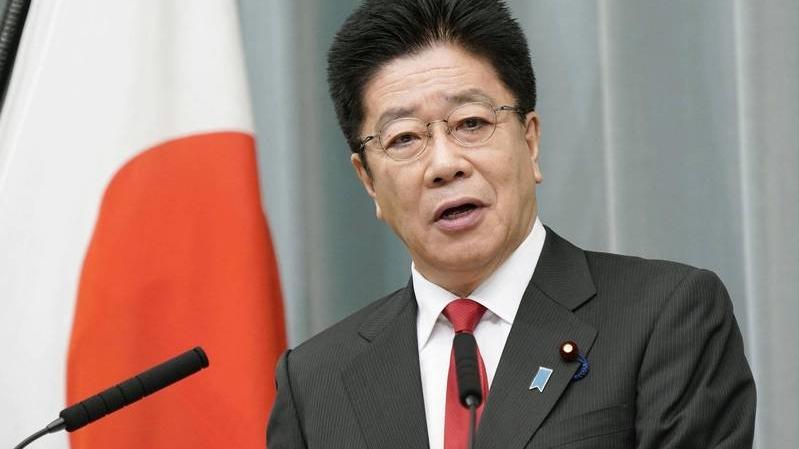 日本内阁官房长官加藤胜信。(美联社)