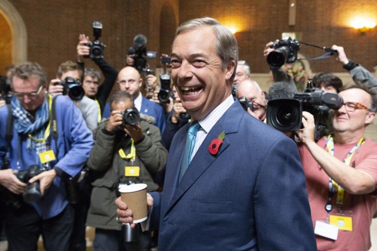 """如今英國終於 """"脫歐"""" 了,以大炮性格聞名的英國脫歐黨黨魁再出狂言,稱希望英國 """"脫歐"""" 是是歐盟結束的開始。"""