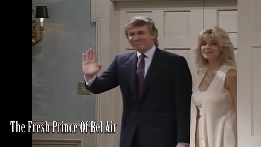 川普在電視劇《新鮮王子妙事多》 中的劇照