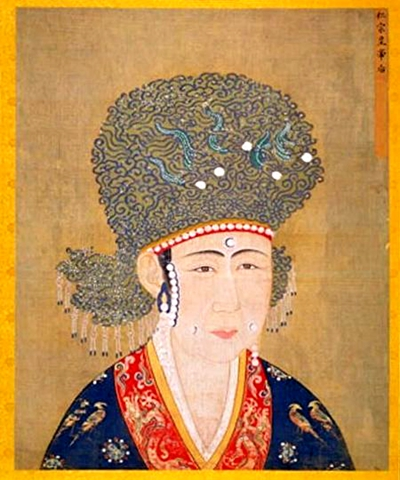 宋仁宗曹皇后像(图片:出自《宋代后半像册》,北京故宫南熏殿旧藏)