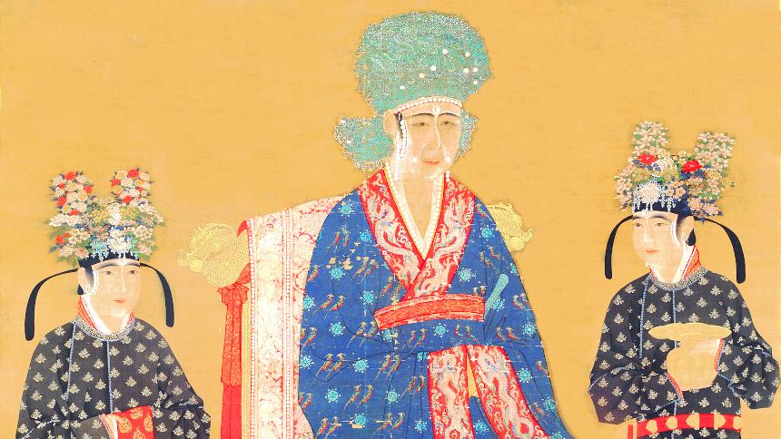她不是皇帝心目中的皇后 但却被她的贤德折服(图片:宋代慈圣光献皇后像局部,国立故宫博物院藏)