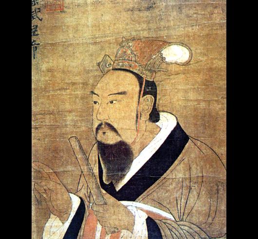 梁武帝萧衍(图片:唐代绘画,国立故宫博物院收藏)