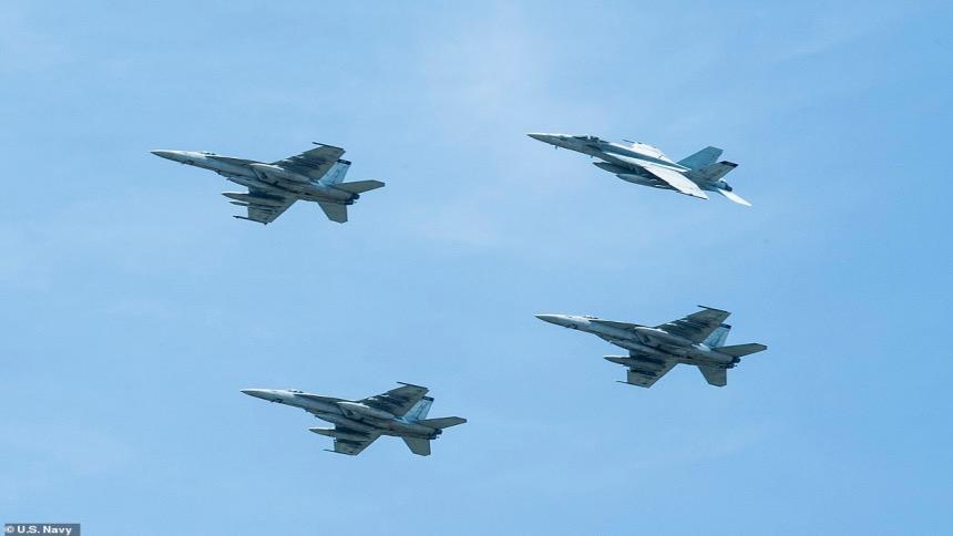 美FA-18E大黄蜂战斗攻击机