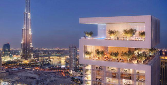 迪拜的空中公园,每一层都有户外绿化露台。(图片来源:网络)