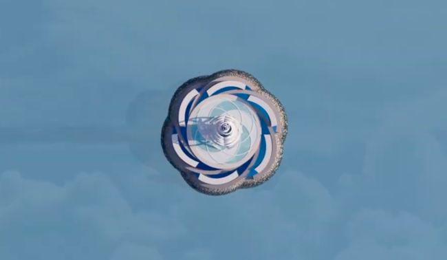 """""""拉赫塔中心2号""""从上面看起来就好像一朵绽放的花。(图片来源:网络)"""