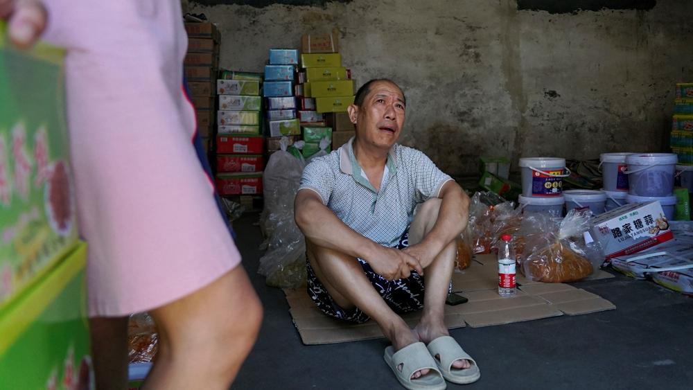 河南新乡灾民。(图片来源:AP)