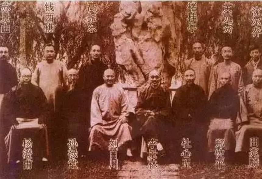 杜心武与当时的武林第一高手孙禄堂等人