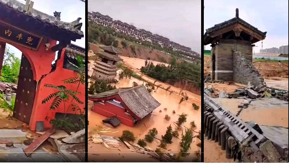 少林寺被淹惨状