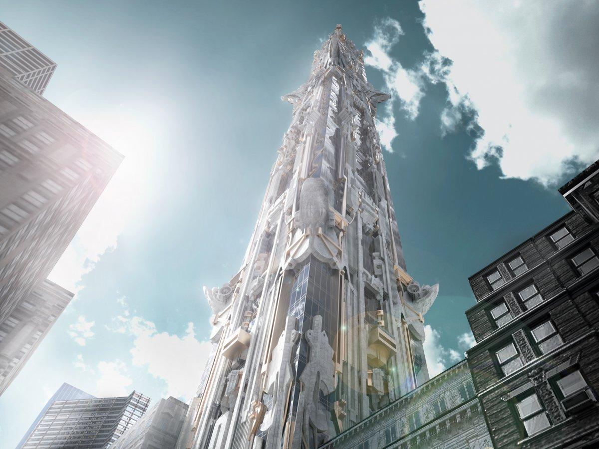 美建筑师打造神殿级大楼 将成纽约第一高(图)