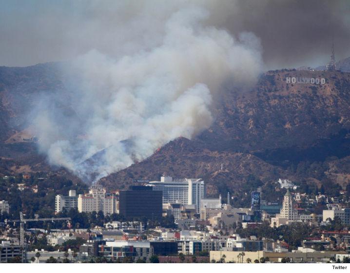 美国好莱坞附近出现灌木林大火