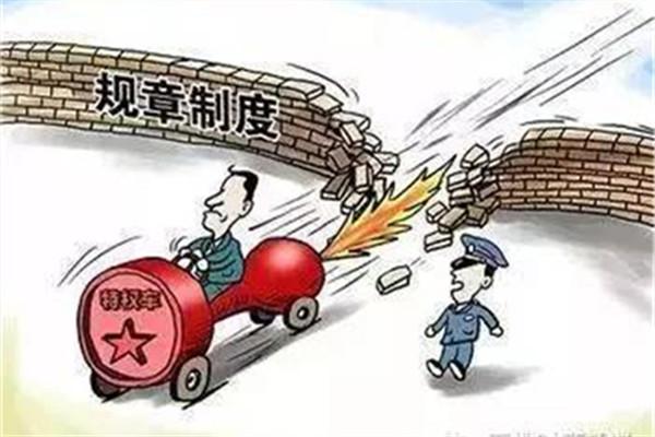 """触目惊心的""""中国式特权"""