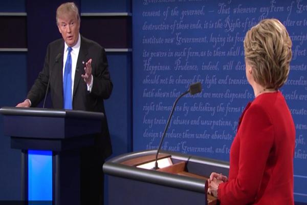 美总统大选首辩会 川普希拉里各表政经立场 相互攻击