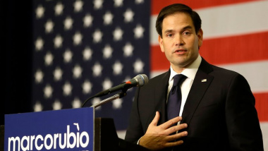 Marco Rubio, R-Fla., is urging other Republicans not to use the WikiLeaks revelations given that U.S. intelligence officials say the emails are a product of a hack with foreign government influence. John Raoux/AP