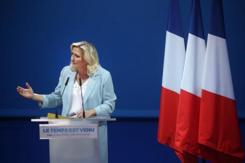 国民联盟领导人玛丽娜•勒朋(图:Marine Le Pen推特)